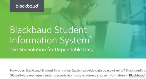 Blackbaud Student Information System Infosheet