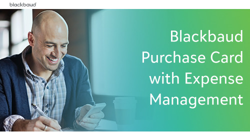 Blackbaud Purchase Card with Expense Management