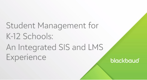 Student Management for K–12 Schools: An Integrated SIS and LMS Experience