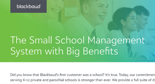 The Small School Management System with Big Benefits