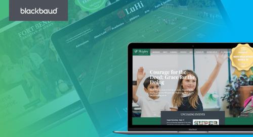 Blackbaud K–12 School Site Earns Best Education Website Honors