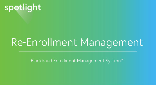 Re-Enrollment Management
