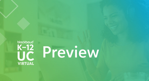 Blackbaud K–12 UC Preview: The Private School Tech Conference