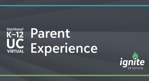 UC20 Ignite: How to Cultivate the Parent Experience