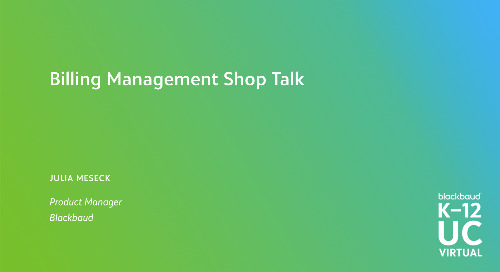 Blackbaud Billing Management Shop Talk