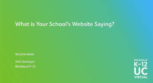 What is Your School Website Saying?