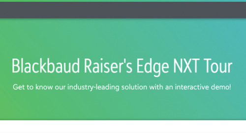 Blackbaud's Raiser's Edge NXT Self-Guided Tour