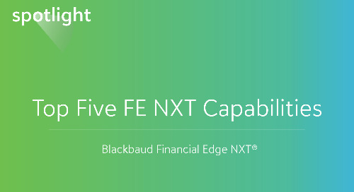 Top Five Financial Edge NXT Capabilities
