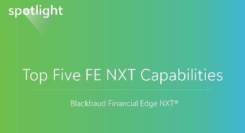 Top Five Financial Edge NXT Capabilities