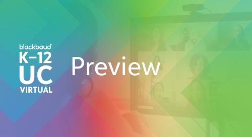 Blackbaud K–12 UC21 Virtual Preview: The Private School Tech Conference