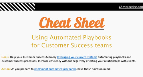 Cheat Sheet: How to Drive Efficiency With Automated Customer Success Plays