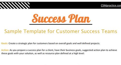 Success Plan Template for Customer Success Teams