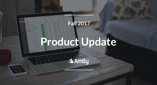Fall 2017 Update: Amity's Newest Features
