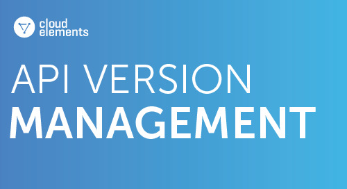 Cloud Elements API Version Management