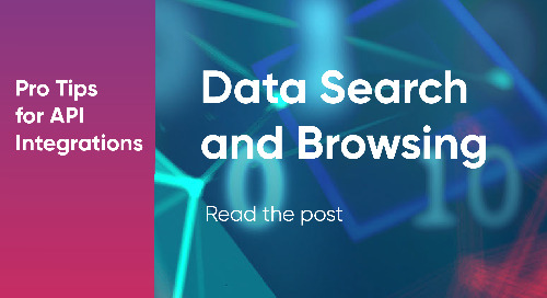 Data Search and Browsing For API Integrations