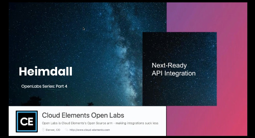 Cloud Elements Open Labs Webinar 4