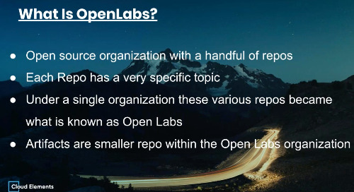 OpenLabs Webinar #3  Using Artifacts to Build Elements, VDRs and Formulas