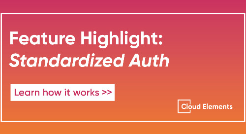 Cloud Elements' Standardized Authentication How-To