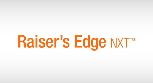 Raiser's Edge NXT for Higher Education