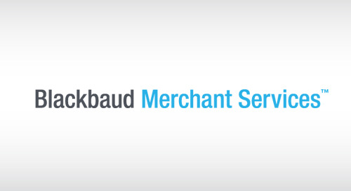 VIDEO: Blackbaud Merchant Services Makes Payment Processing Easy
