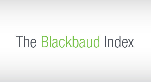 THE BLACKBAUD INDEX: Monthly Charitable & Online Giving Trends