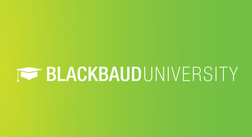 RECORDED WEBINAR: What's New at Blackbaud U