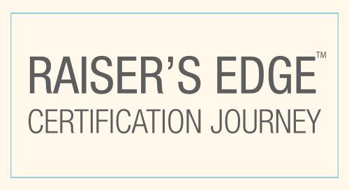 INFOGRAPHIC: Raiser's Edge Certification Journey