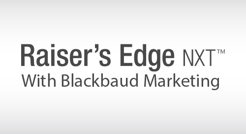 VIDEO: A Demonstration of Raiser's Edge NXT with Blackbaud Marketing