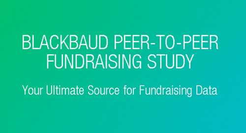 REPORT: Blackbaud's Annual Peer-to-Peer Fundraising Study