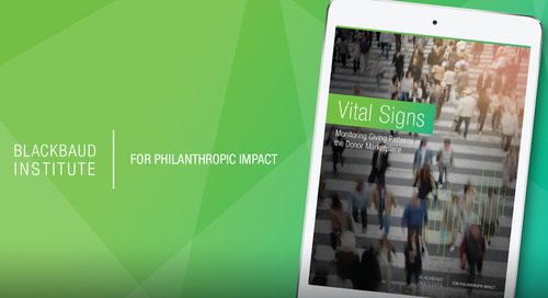 REPORT: Vital Signs Part 1: Monitoring Giving Patterns in the Donor Marketplace