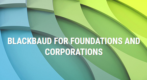 OVERVIEW: Blackbaud Solutions for Foundations