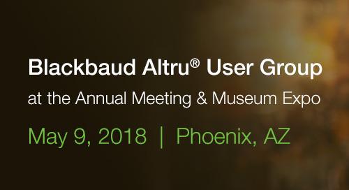 5/9: Blackbaud Altru User Group in Phoenix, AZ (Free Event with Happy Hour)