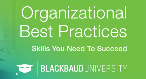 NEW: Blackbaud University's Organizational Best Practices Courses