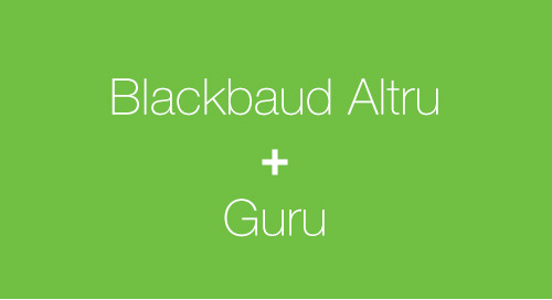3/22: Data-Driven Visitor Engagement with Blackbaud Altru and Guru (Webinar)