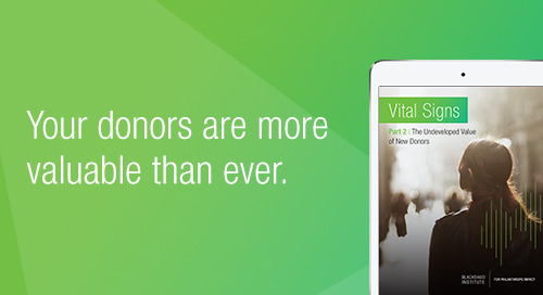 REPORT: Vital Signs Part 2: The Undeveloped Value of New Donors