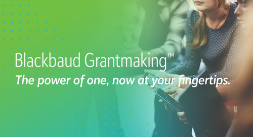 6/29: Blackbaud Grantmaking Product Tour (Webinar)
