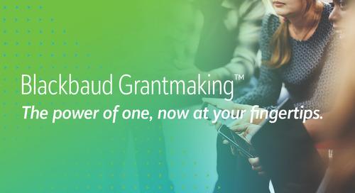 10/19: Blackbaud Grantmaking Product Tour (Webinar)