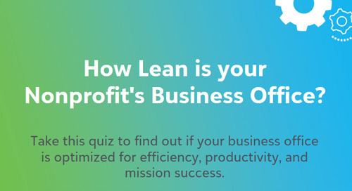 QUIZ: How Lean is Your Nonprofit's Business Office