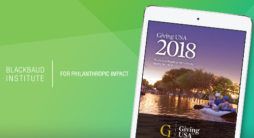 ARTICLE: Insights from Giving USA 2018: Charitable Giving Growth & Trends