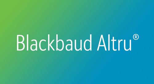 DATASHEET: Blackbaud Altru for Major Giving