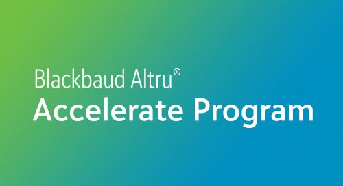OVERVIEW: Blackbaud Altru Accelerate Program