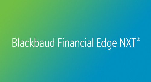 DATASHEET: Financial Edge NXT for Organizations of Faith