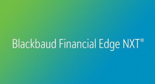 DATASHEET: Financial Edge NXT for Organizations of Faith