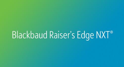 DATASHEET: Blackbaud Raiser's Edge NXT