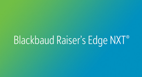 DATASHEET: Blackbaud Raiser's Edge NXT for eTapestry Clients