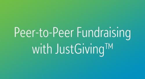 10/18: An Introduction to Blackbaud Peer-to-Peer Fundraising (Webinar)