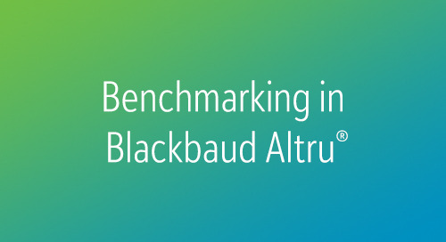 VIDEO: Patron Lifycycle Analytics in Blackbaud Altru