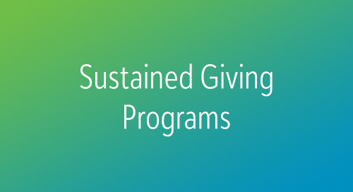 RECORDED WEBINAR: Growing Your Annual Fund through Sustained Giving Programs