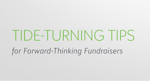 RECORDED WEBINAR SERIES: Tide Turning Tips for Forward Thinking Fundraisers