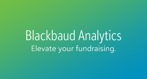 8/27: Fundraising During Challenging Times: Perspective from the Blackbaud Target Analytics Consulting Team